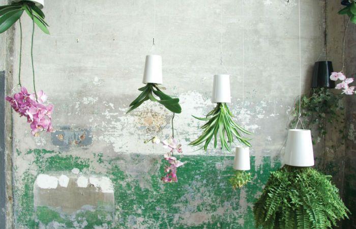 Перевернутые горшки для цветов фото